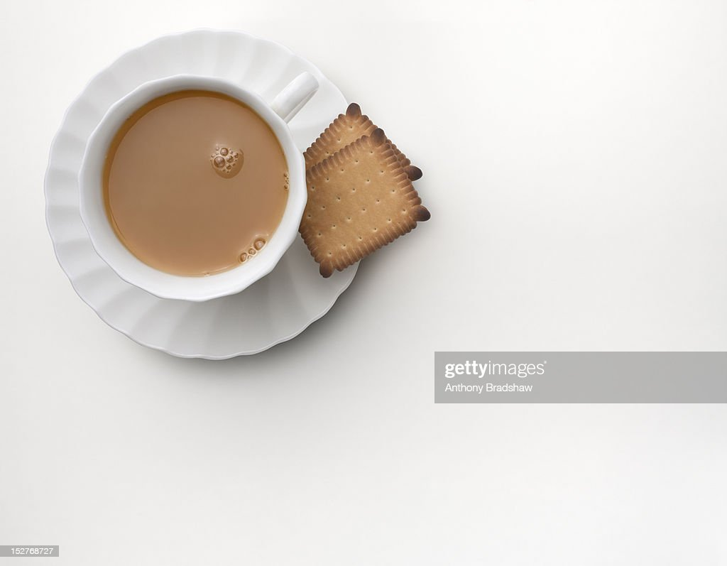 Tea and biscuits : Stock Photo