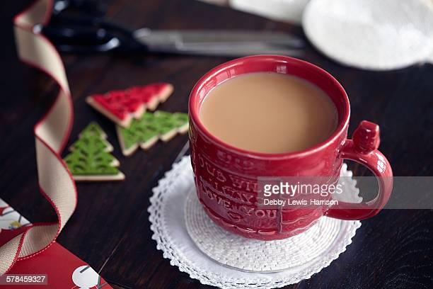 Tea and Christmas decor