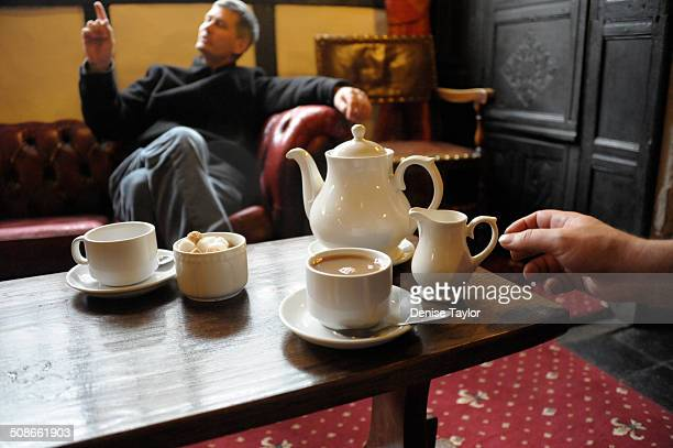 Tea and conversation for breakfast in Rye England