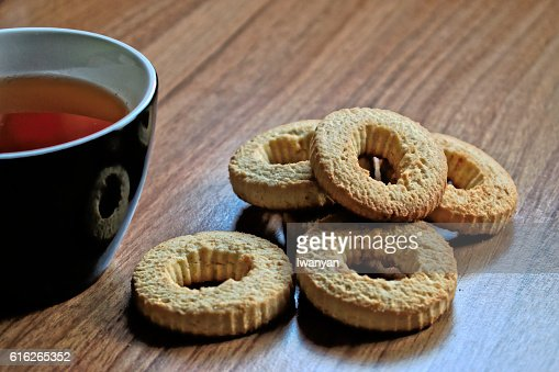 Tea and Cookies : Stock Photo