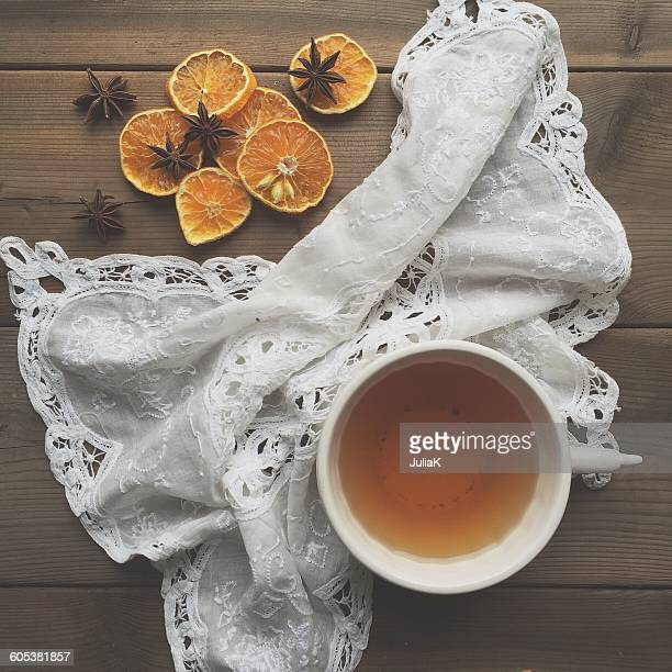 Tea and dried oranges