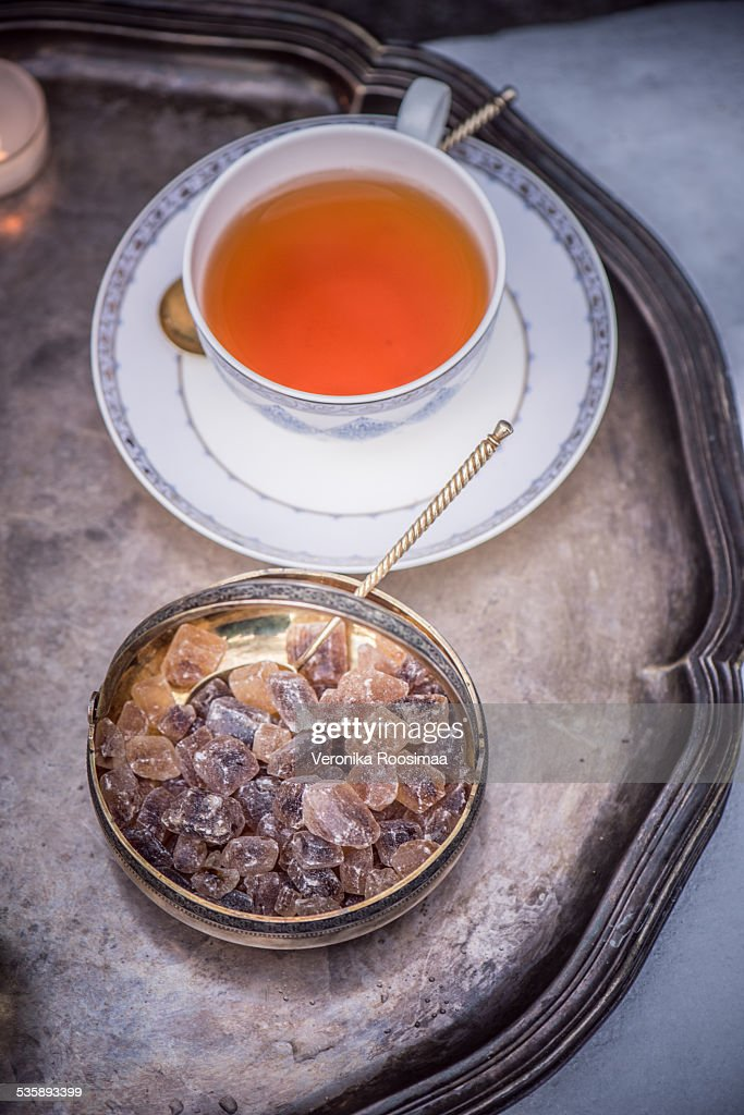 Tea and sugar : Stock Photo
