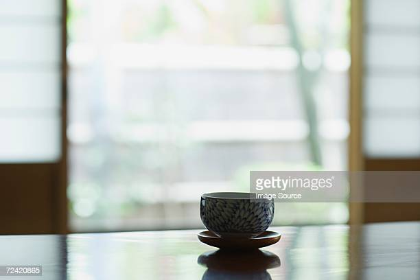 Tea bowl on a table