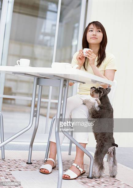 Tea break with dog