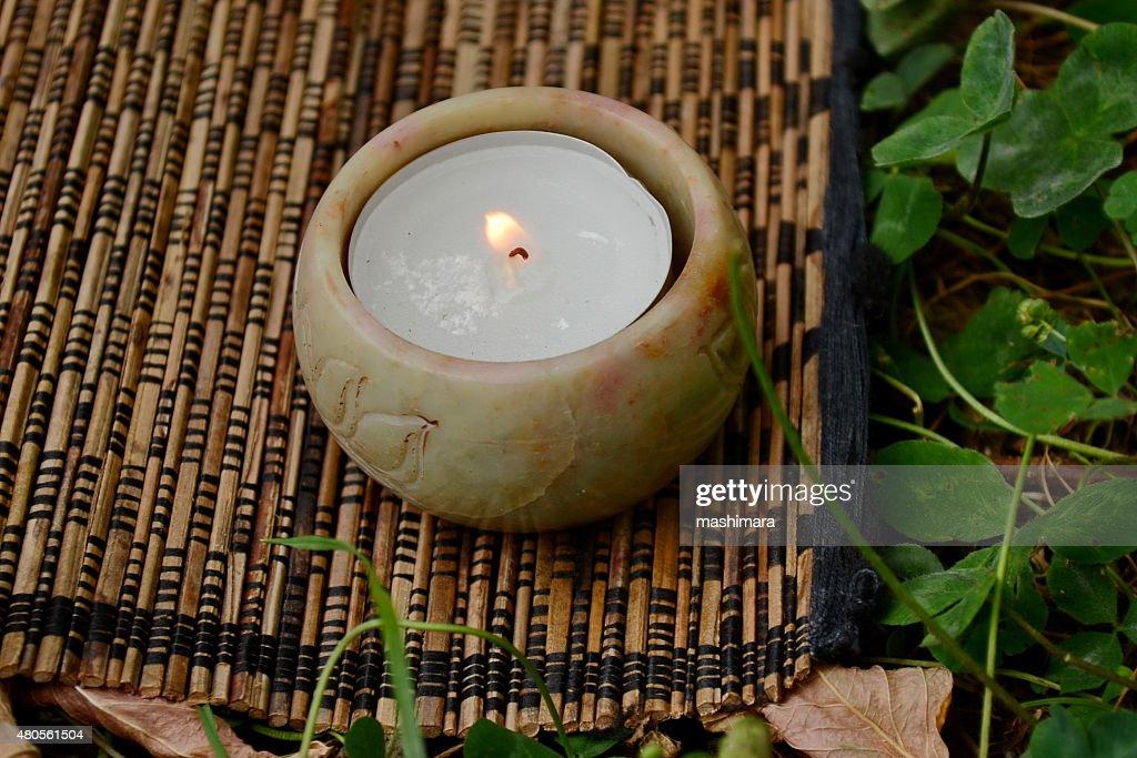 Tea candle : Stock Photo