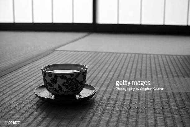Tea cup and tatami