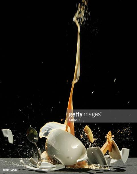 Tea Cup Smashing on Floor