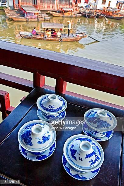 Tea cups, Zhouzhuang, Jiangsu, China