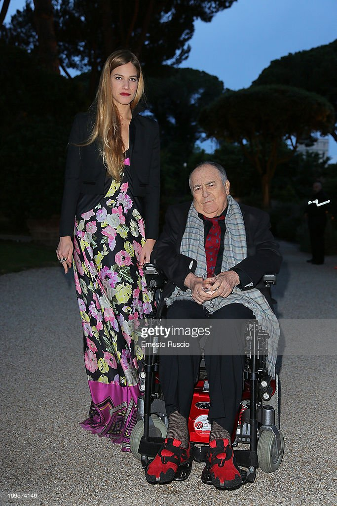 Tea Falco and Bernardo Bertolucci attend the 2013 McKim Medal Gala at Villa Aurelia on May 27, 2013 in Rome, Italy.