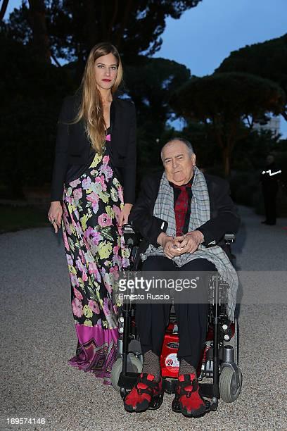 Tea Falco and Bernardo Bertolucci attend the 2013 McKim Medal Gala at Villa Aurelia on May 27 2013 in Rome Italy