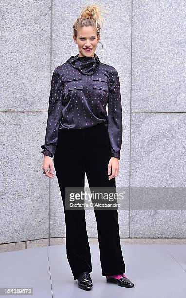 Tea Falco attends 'Io e Te' Photocall held at the Gray Hotel on October 19 2012 in Milan Italy