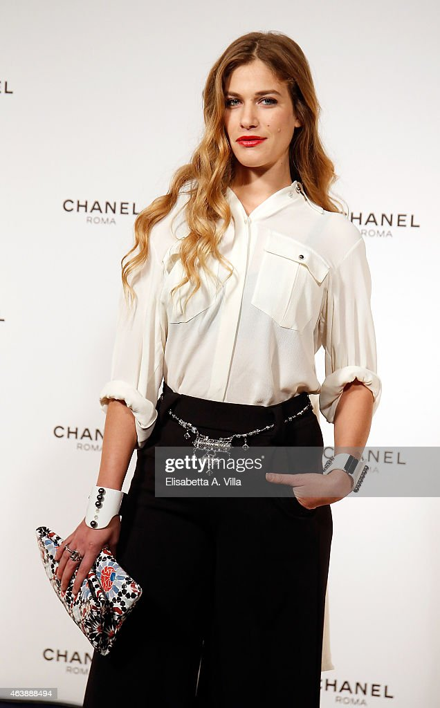 Tea Falco attends the Chanel Dinner Party at Villa Giulia to celebrate the new Chanel Boutique Opening on February 19, 2015 in Rome, Italy.