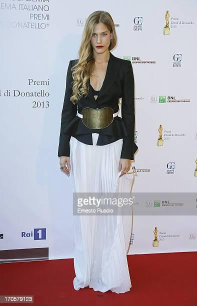Tea Falco attends the David di Donatello Ceremony Awards at Dear on June 14 2013 in Rome Italy