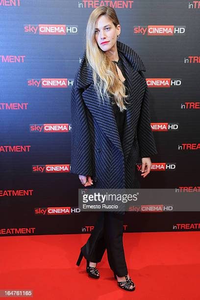 Tea Falco attends the 'In Treatment' premiere at Teatro Capranica on March 27 2013 in Rome Italy