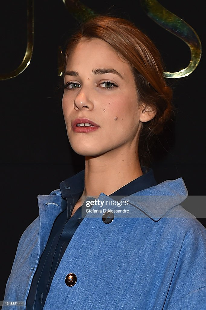 Tea Falco attends the Trussardi show during the Milan Fashion Week Autumn/Winter 2015 on March 1, 2015 in Milan, Italy.