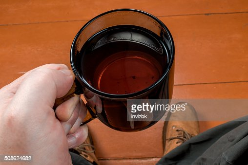 Tea for man : Stock Photo