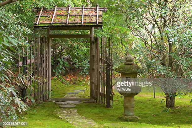 Tea House Path and Garden, Kyoto, Honshu, Japan
