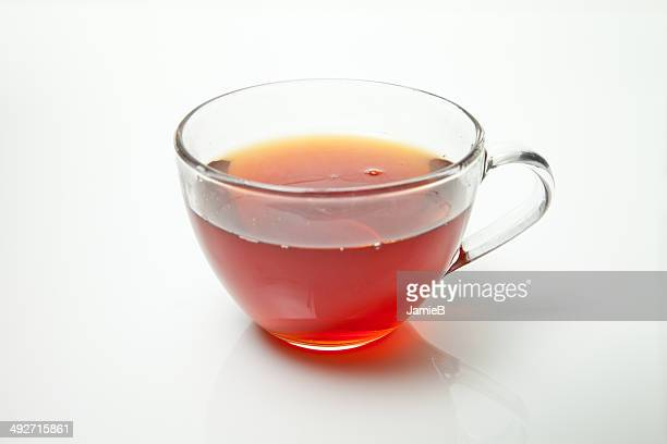 Tea in a transparent tea cup