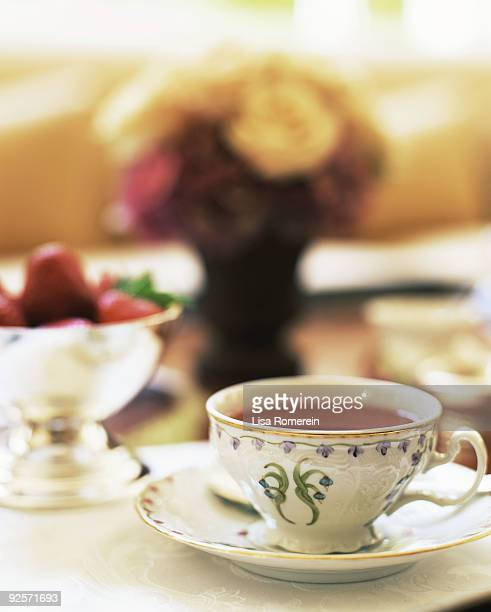 Tea in fine china