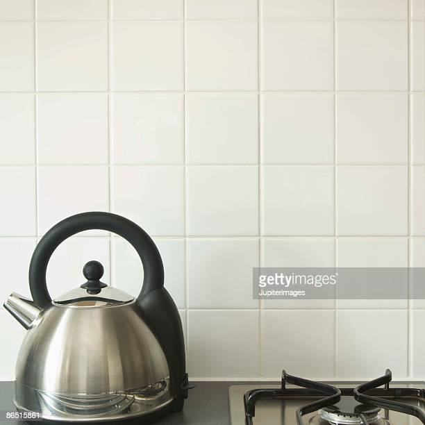 Tea kettle and gas stove