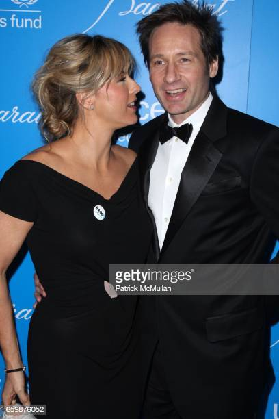 Tea Leoni and David Duchovny attend 2009 UNICEF SNOWFLAKE BALL at Cipriani 42nd St on December 2 2009 in New York City