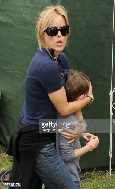 Tea Leoni and son arrive at the 21st Annual A Time For Heroes Celebrity Picnic sponsored by Disney to benefit The Elizabeth Glaser Pediatric AIDS...