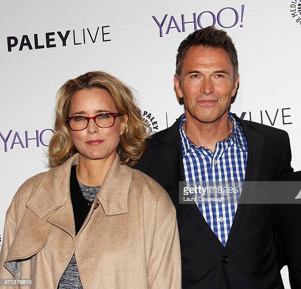 Tea Leoni and Tim Daly attend The Paley Center For Media Presents An Evening With 'Madame Secretary' at Paley Center For Media on April 27 2015 in...