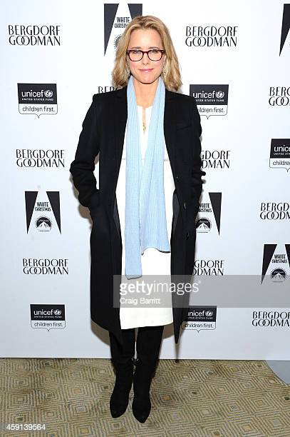 Tea Leoni attends the Bergdorf Goodman Holiday Window Unveiling UNICEF Snowflake Lighting Ceremony on November 17 2014 in New York City