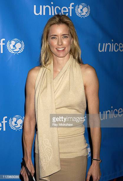 Tea Leoni during UNICEF Goodwill Gala Celebrating 50 Years of Celebrity Goodwill Ambassadors Red Carpet at The Beverly Hilton in Beverly Hills...
