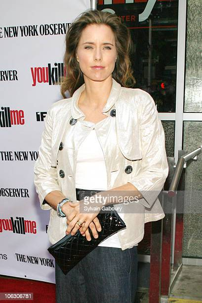 Tea Leoni during 'You Kill Me' New York City Premiere Arrivals at IFC Center at 323 Sixth Avenue in New York City New York United States
