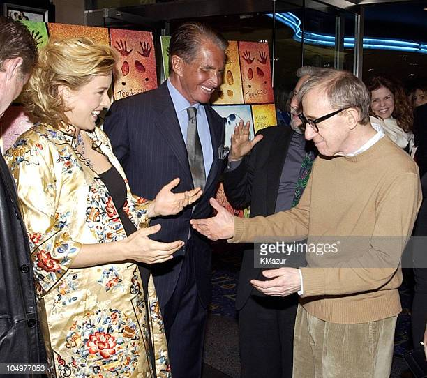 Tea Leoni George Hamilton and Woody Allen during New York Premiere of 'Hollywood Ending' at Chelsea West Theatre in New York City New York United...