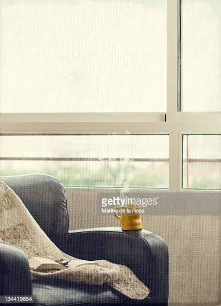 Tea on sofa