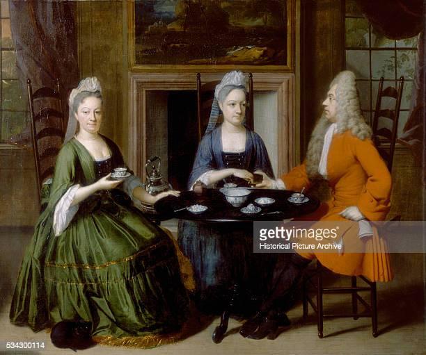A Tea Party by Nicolaas Verkolje