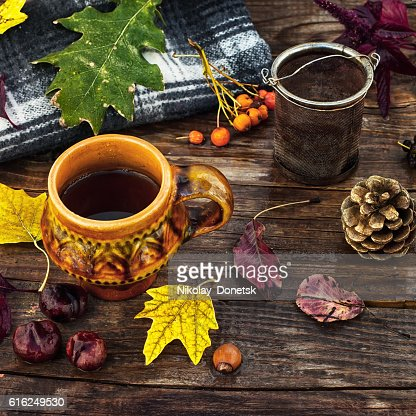 Tea party in October : Foto de stock