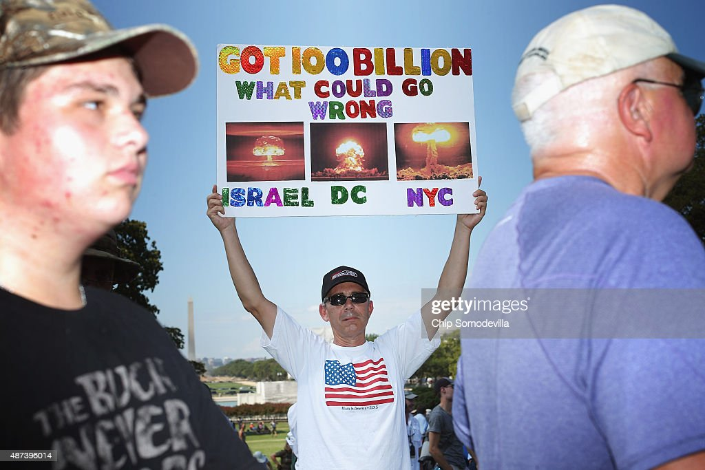 Tea Party supporters gather on the West Front Lawn for a rally against the Iran nuclear deal at the U.S. Capitol September 9, 2015 in Washington, DC. Thousands of people gathered for the rally, organized by the Tea Party Patriots, featured conservative pundits and politicians.