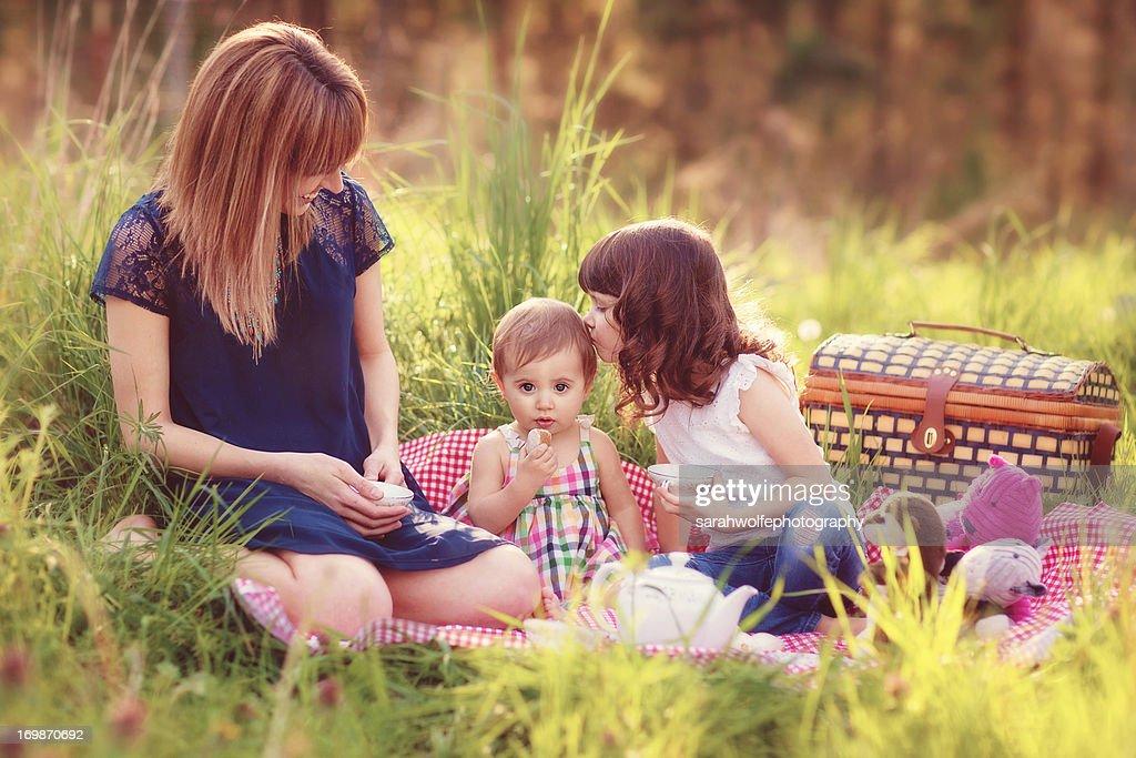 Tea party with mama : Stock Photo