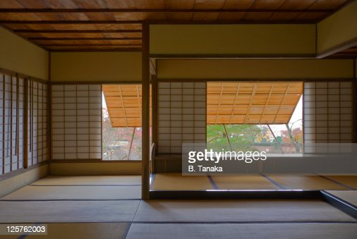 Tea Pavilion at Kyoto's Shugakuin Imperial Villa : Stock Photo