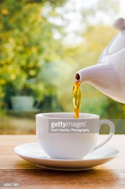 Tea Poured Into a Tea Cup