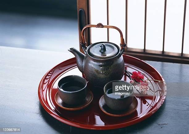 Tea Set and Japanese Green Tea