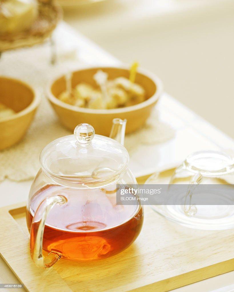 Tea Set On Table : Stock Photo