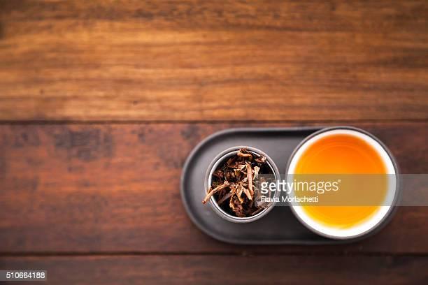 Tea set with tea