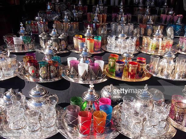 Tea sets at the Souk, Marrakech
