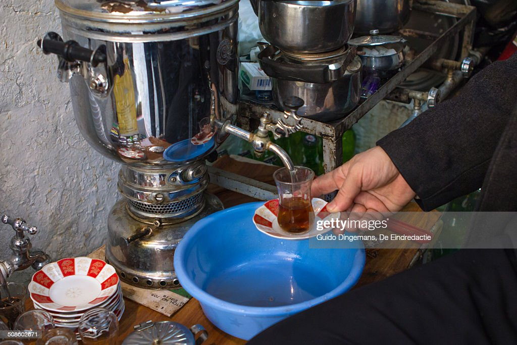 Tea shop in Sulaymaniyah, Iraqi Kurdistan, Iraq : Stock Photo