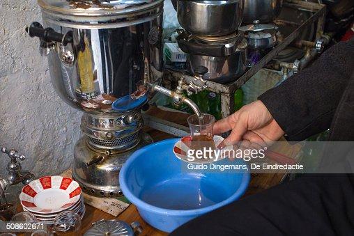 Tea shop in Sulaymaniyah, Iraqi Kurdistan, Iraq : Stock Photo
