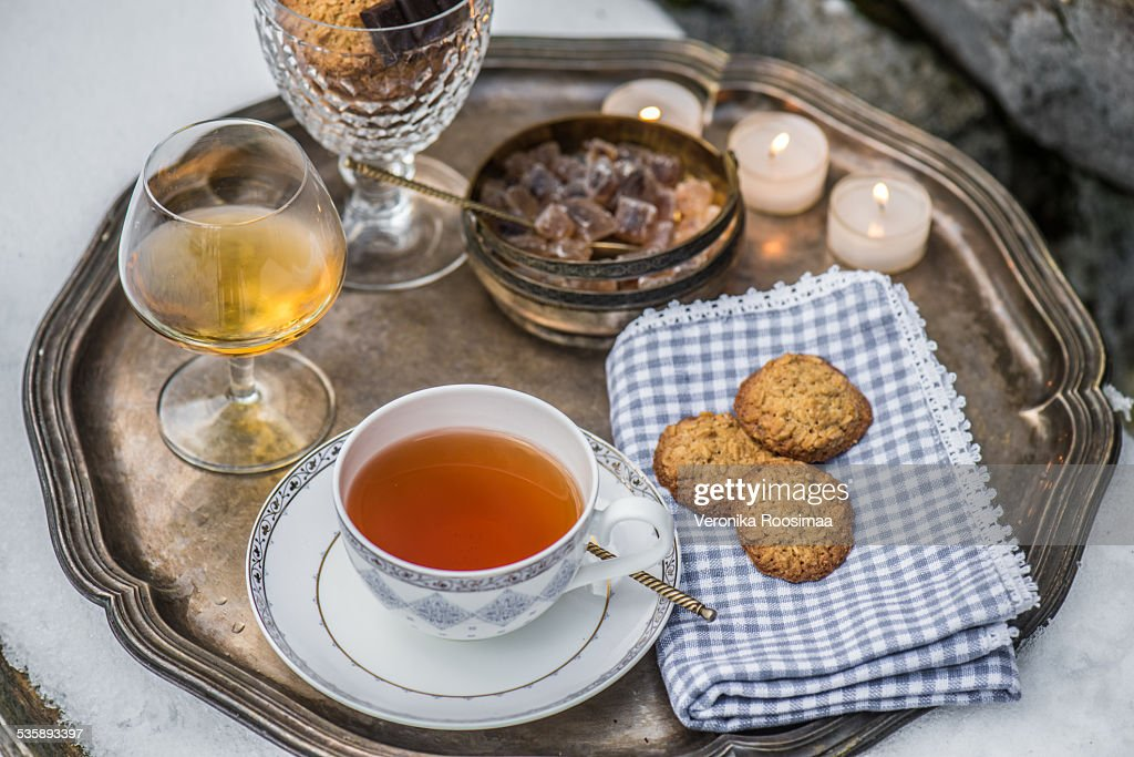 Tea tray : Stock Photo