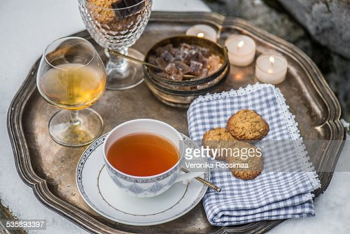Tea tray : Stock Photo