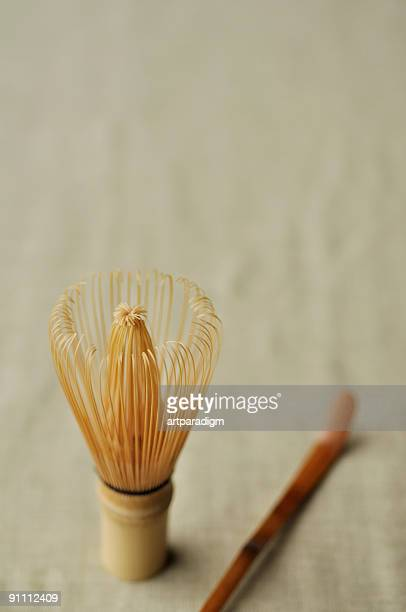 Tea whisk, close-up