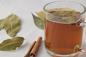 Tea with pine nuts bay leaves and cinnamon.