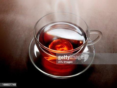 Tea with steam