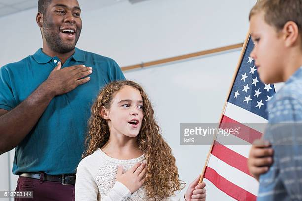 Lehrer und Schüler, Amerikanische Fahneneid